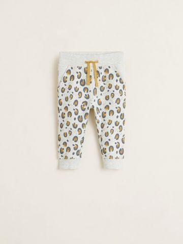 מכנסי טרנינג בהדפס מנומר / בייבי בנות