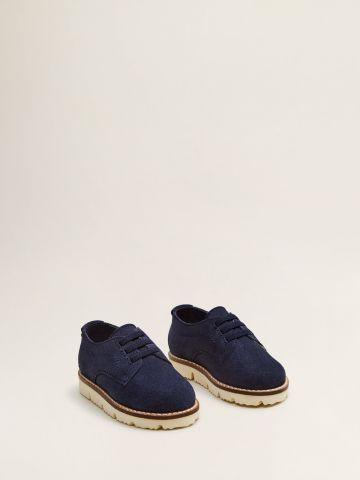 נעלי זמש עם סוליית טרקטור / בייבי בנים