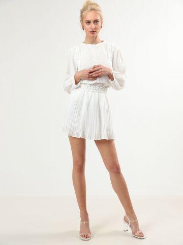 חצאית פליסה מיני