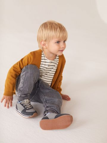 מכנסי טרנינג ווש עם תפרים בולטים / בייבי בנים