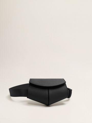 פאוץ' חגורה גאומטרי דמוי עור / נשים