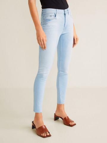 ג'ינס סקיני קרופ בשטיפה בהירה