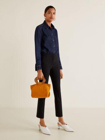 מכנסיים מחויטים Slim-fit קרופ