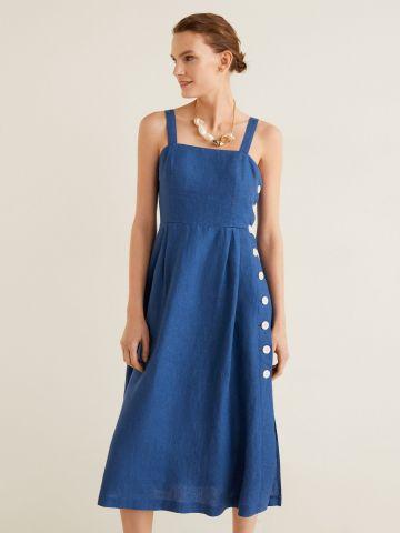 שמלת מידי עם כפתורים בצד