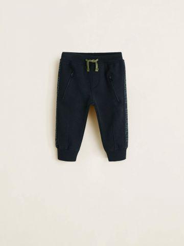 מכנסי טרנינג עם סטריפים בהדפס Brooklyn בצדדים / בייבי בנים