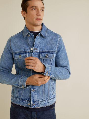 ג'קט ג'ינס עם ווש וינטג'