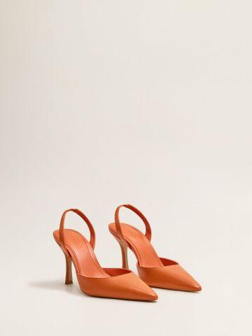 נעלי עקב סטילטו מעור
