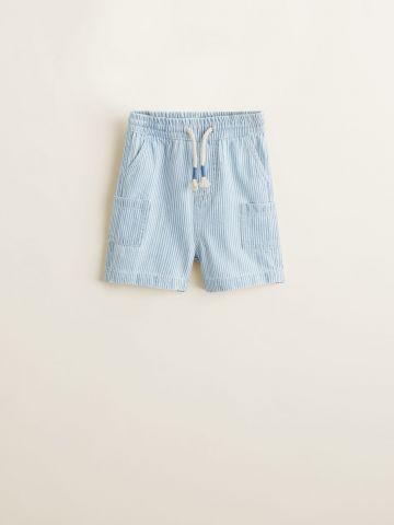 מכנסיים קצרים בהדפס פסים/ בייבי בנים