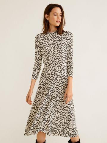שמלת מידי בהדפס מנומר