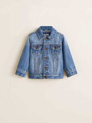 ג'קט ג'ינס עם ווש בהיר / בייבי בנים