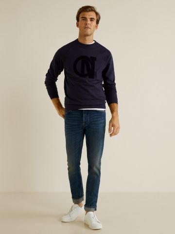 ג'ינס Slim-fit עם ווש וינטג'