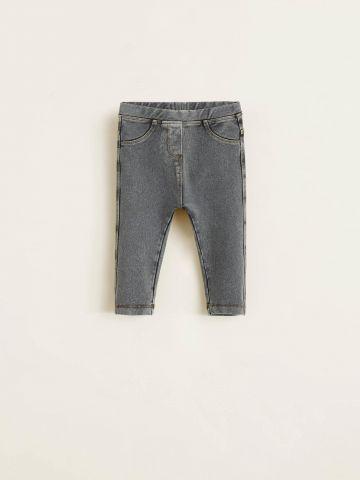 טייץ ארוך דמוי ג'ינס ווש / בייבי בנות