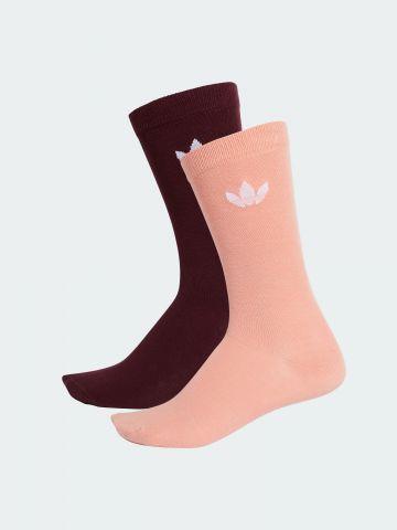 מארז 2 זוגות גרביים גבוהים עם לוגו / נשים