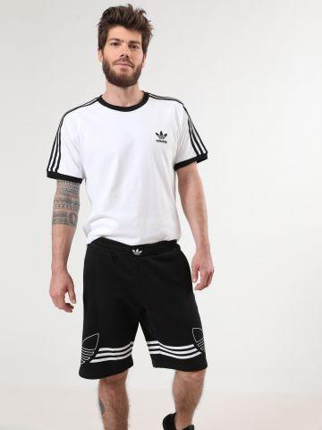מכנסי טרנינג קצרים עם הדפס לוגו