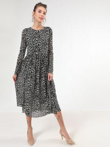 שמלת פליסה מקסי בהדפס פרחים
