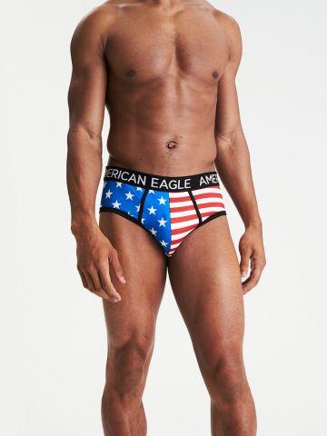 """תחתוני בריף דגל ארה""""ב / גברים"""