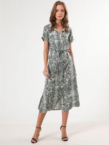 שמלת נחש מידי עם כפתורים