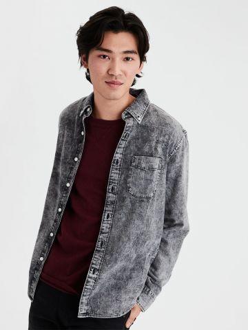 חולצת ג'ינס אסיד ווש