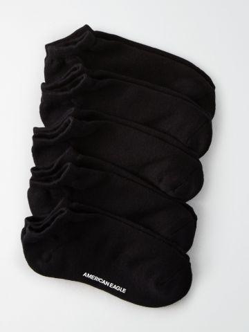 מארז 5 זוגות גרביים נמוכים עם לוגו / גברים