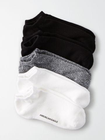 מארז 5 זוגות גרביים נמוכים / גברים