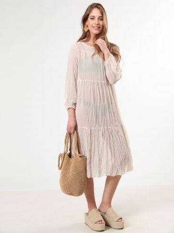 שמלת שיפון מידי שקופה