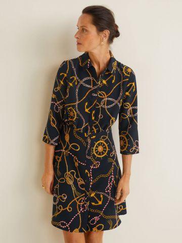 שמלת מיני בהדפס שייט