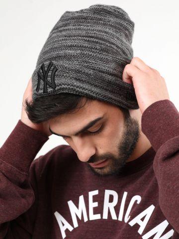 כובע גרב מלאנז' עם רקמת יאנקיז