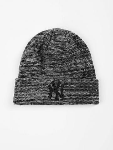 כובע גרב מלנז' עם רקמת יאנקיז / גברים