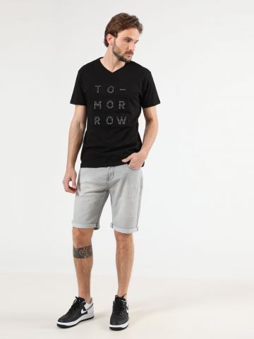 ג'ינס קצר ווש