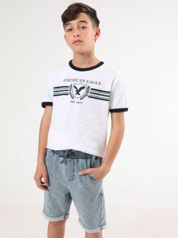 מכנסי טרנינג ווש קצרים