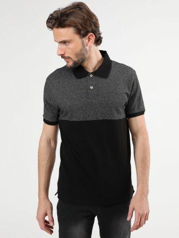 חולצת פולו קולור בלוק