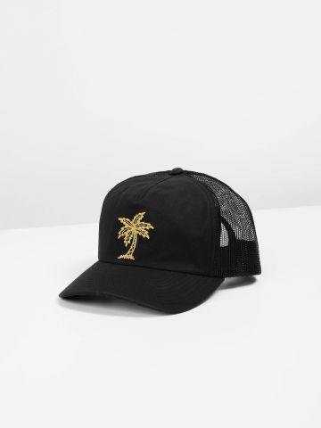 כובע מצחייה עם רקמת עץ דקל / גברים