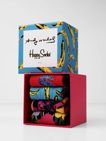 מארז 4 זוגות גרביים Andy Warhol / נשים