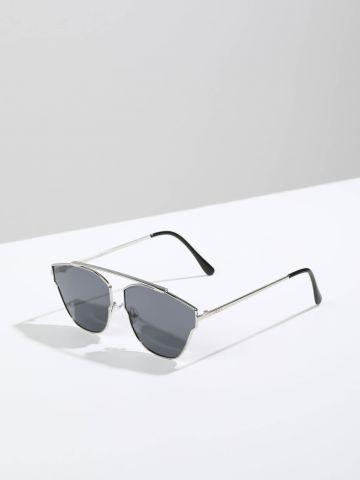 משקפי שמש גאומטריים עם מסגרת דקה CDG