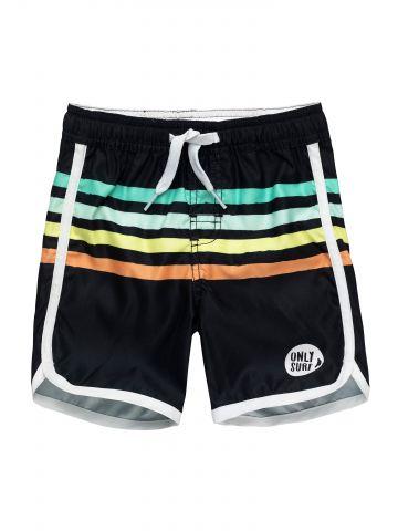 מכנסי בגד ים בהדפס פסים צבעוניים / בייבי בנים