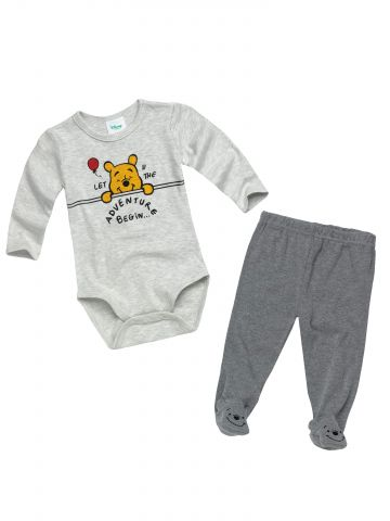סט בגד גוף ומכנסיים בהדפס Winnie The Pooh / בייבי בנים