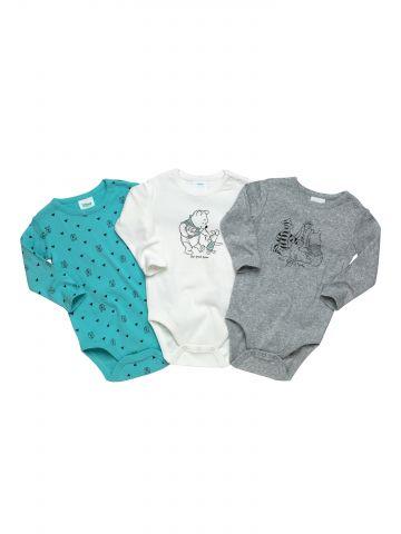 מארז 3 בגדי גוף עם הדפס winnie the pooh / בייבי בנים