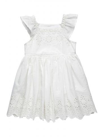 שמלה עם עיטורי תחרה / בייבי בנות