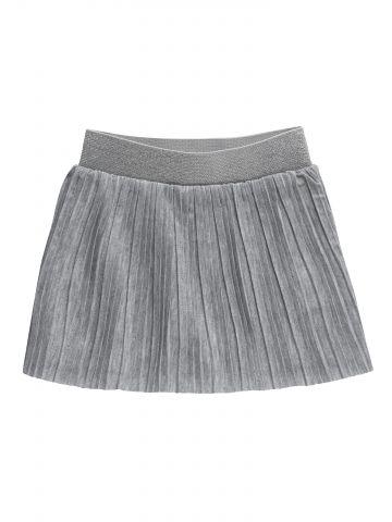 חצאית מכנסיים פליסה עם גומי נוצץ / בייבי בנות
