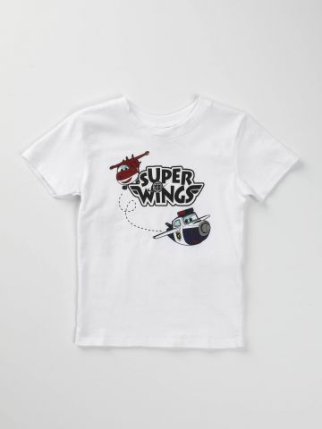 טי שירט עם הדפס Super Wings/ בייבי בנים
