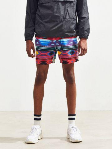 מכנסי פלנל קצרים בהדפס אצטקי UO