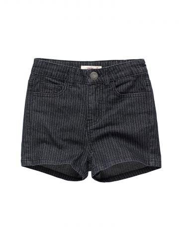 ג'ינס קצר בהדפס פסים / בנות