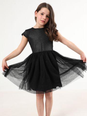שמלת מיני גליטר עם חצאית טול / בנות