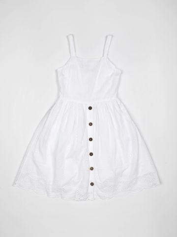 שמלה חגיגית בדוגמת תחרה פרחונית / בנות