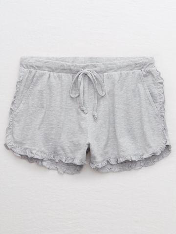 מכנסי פיג'מה קצרים עם עיטורי מלמלה