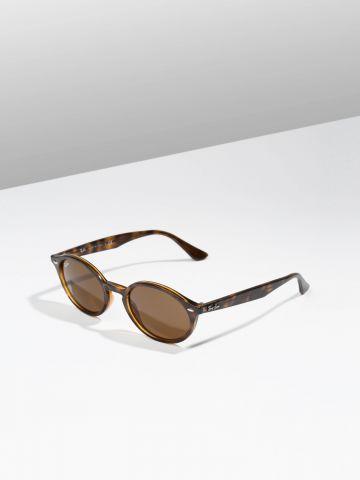 משקפי שמש אובליים עם מסגרת פלסטיק בסגנון מנומר Injected