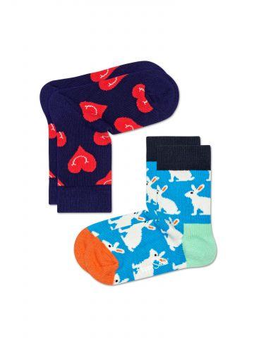 מארז 2 זוגות גרביים גבוהים בהדפסים צבעוניים / בייבי
