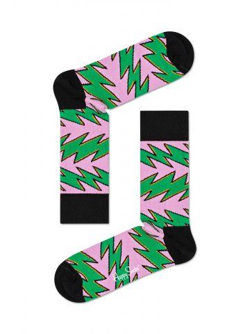 גרביים גבוהים בהדפס זיגזג מולטי קולור / נשים