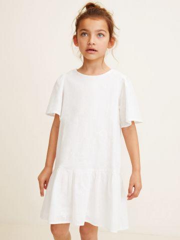 שמלת פפלום עם עיטורי רקמה / בנות
