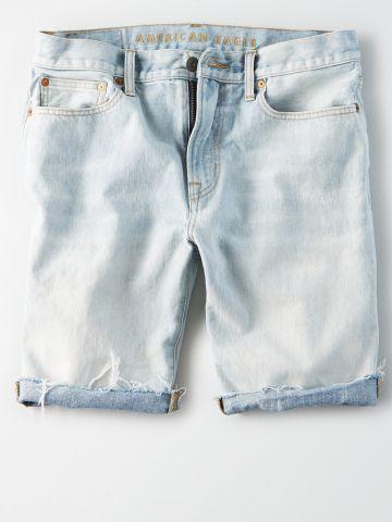 ג'ינס קצר בשטיפה בהירה / גברים